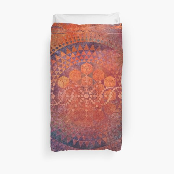 Desert Crop Circle Duvet Cover
