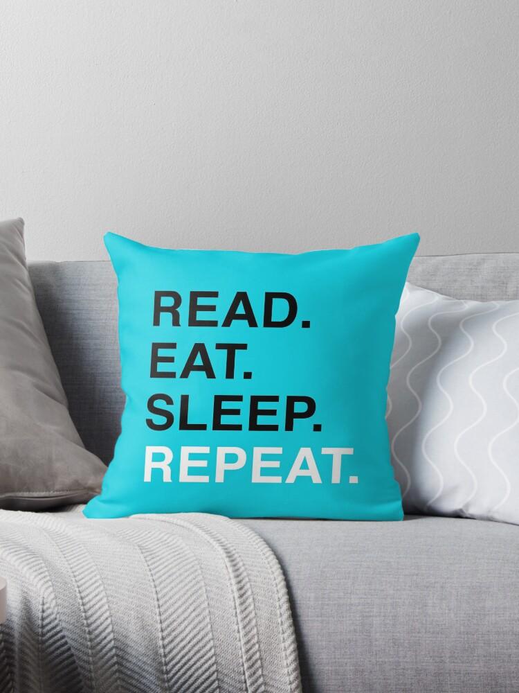 «Leer. Comer. Dormir. Repetir. (Azul)» de Kitmagic