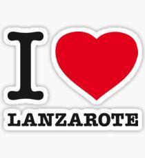 I ♥ LANZAROTE Sticker