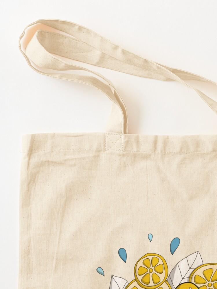 Tote bag ''Fraicheur de l'été - Glace doodle': autre vue