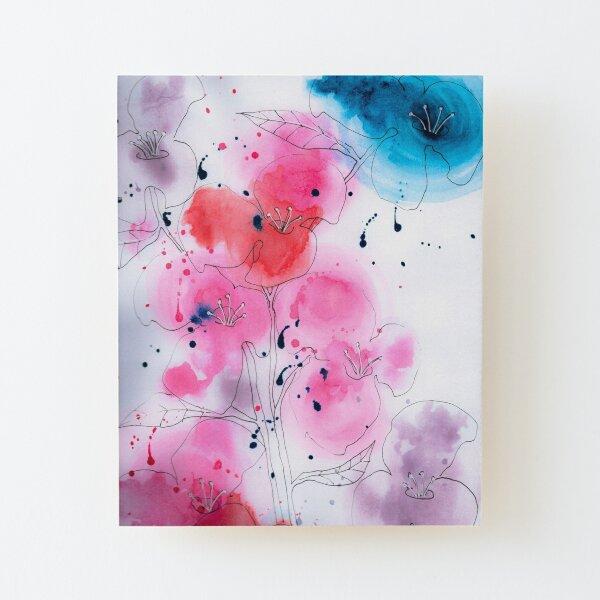 Flower dreams Wood Mounted Print