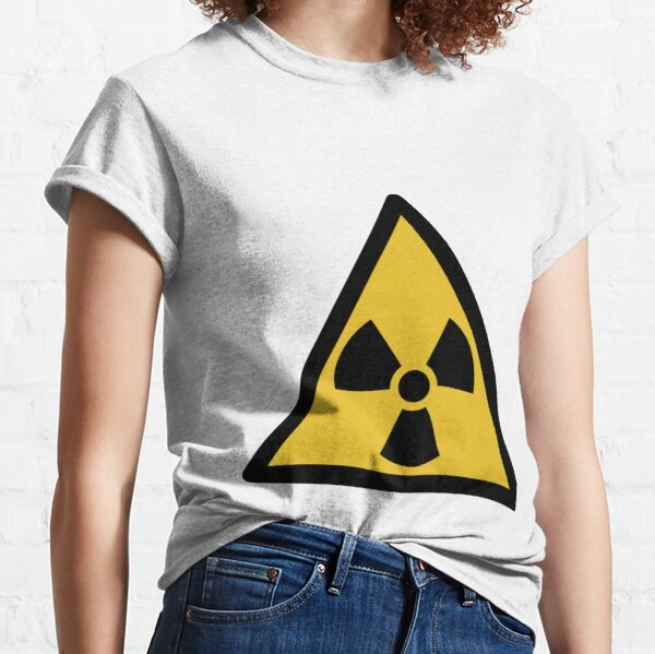 International symbol for types and levels of radiation that are unsafe for unshielded humans Classic T-Shirt