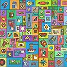 Random Objects Pattern by Kevin James Bernabe