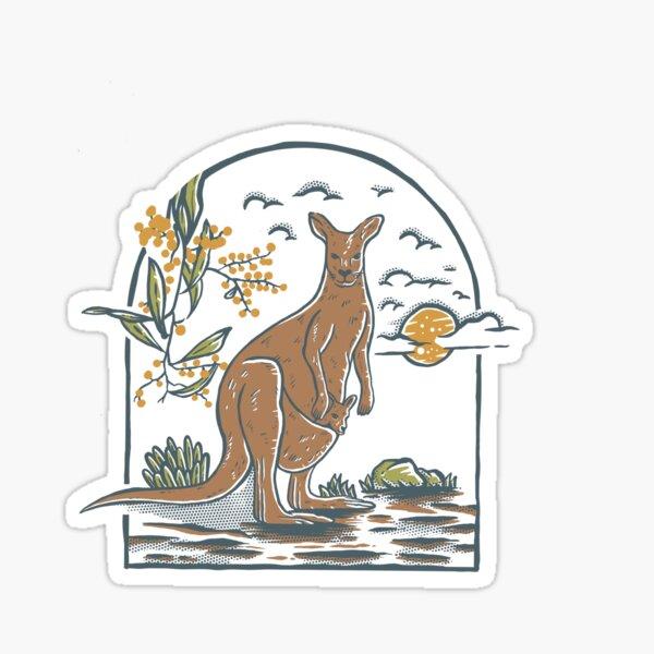 Kangaroo vintage  Sticker