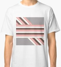 Pretty & Girly Faux Glitter and Stripes Pattern Classic T-Shirt