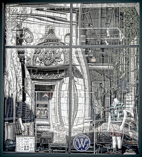 A Twist of Memory in a Storefront Reflection  by Jack McCabe