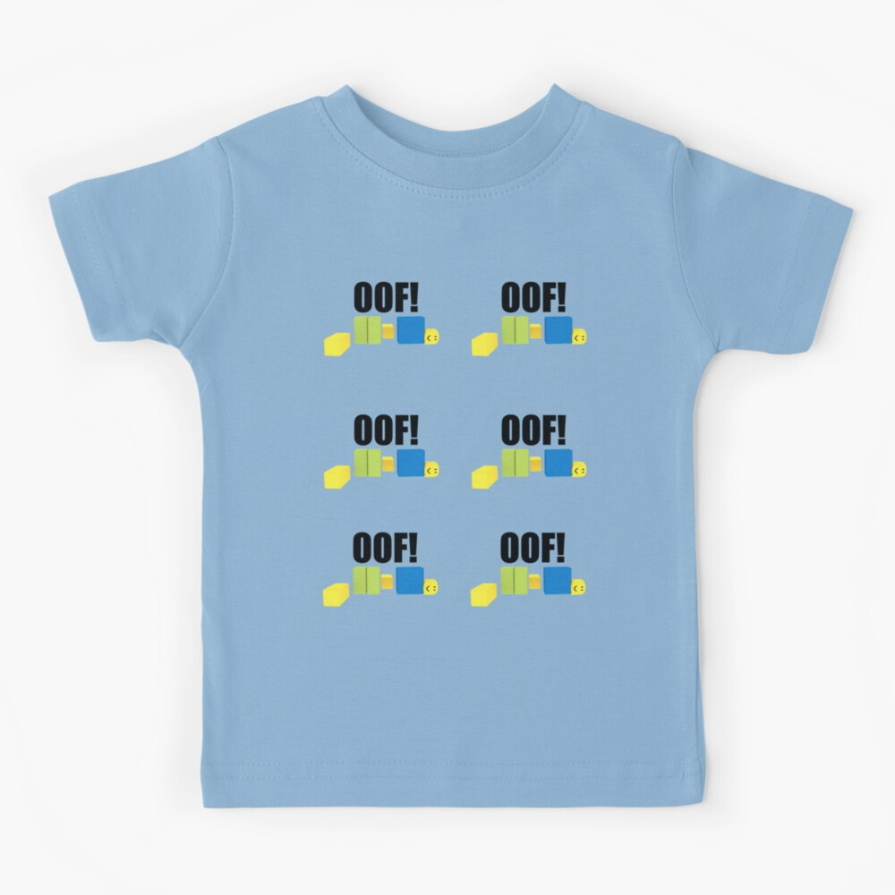 Noobs Shirt Support Noobs Roblox Roblox Oof Noob Meme Sticker Pack Kids T Shirt By Smoothnoob Redbubble