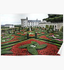 Chateau Villandry Gardens Poster