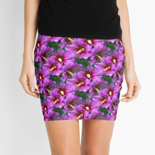 Pink Hibiscus Flowers Mini Skirt