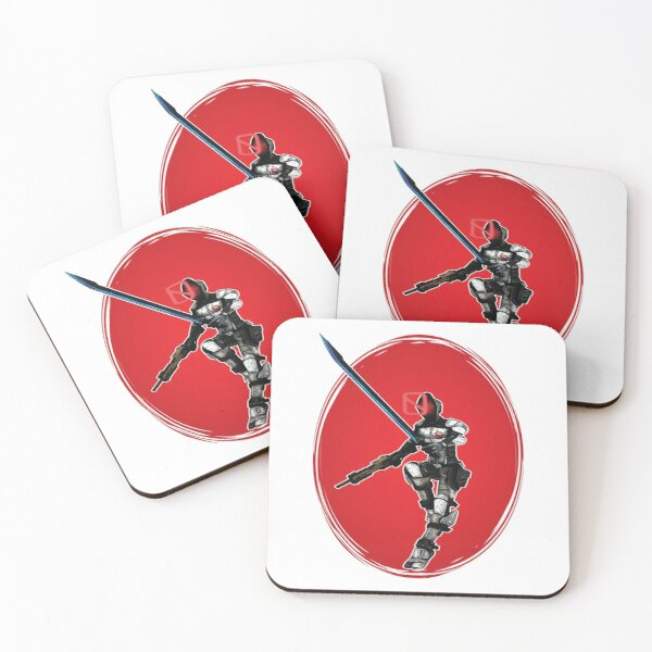 Zer0 The Assassin Borderlands Coasters (Set of 4)