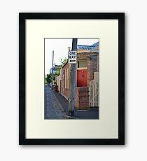 South Melbourne Streetscape Framed Print