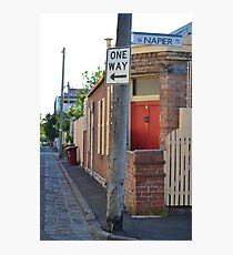 South Melbourne Streetscape Photographic Print