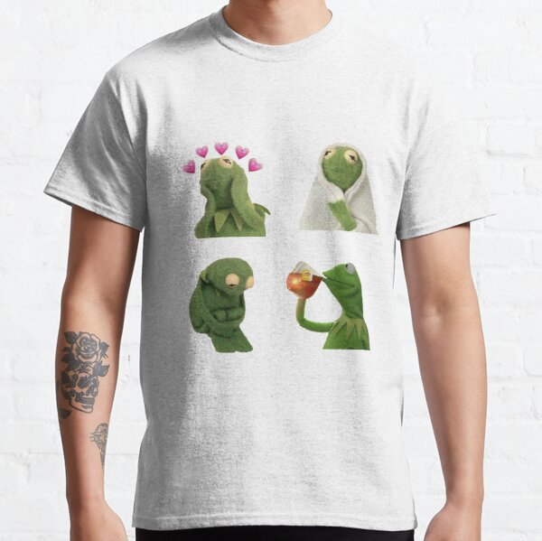 Ensemble d'autocollants Kermit meme T-shirt classique