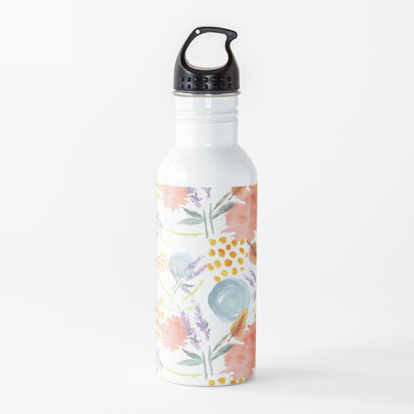 Spring Florals and Feathers Water Bottle