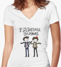 Paradox Buddies Women's Fitted V-Neck T-Shirt