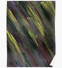 YELLOW GREEN AND PURPLE STREAKS Poster
