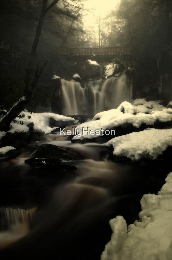 Misty Frozen Waterfalls by KellyHeaton