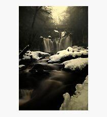 Misty Frozen Waterfalls Photographic Print
