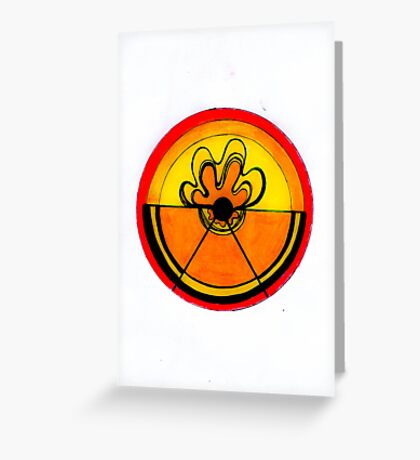 Abstract Flaming Citrus Greeting Card