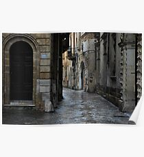 Streetscape in Baroque Poster