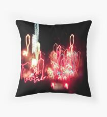 Light Drips Throw Pillow