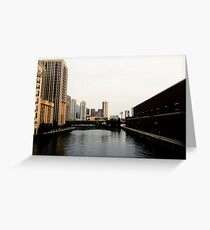 Chicago River Dreams Greeting Card