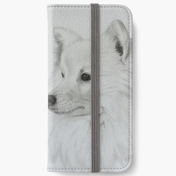 Japanese Spitz Portrait iPhone Wallet