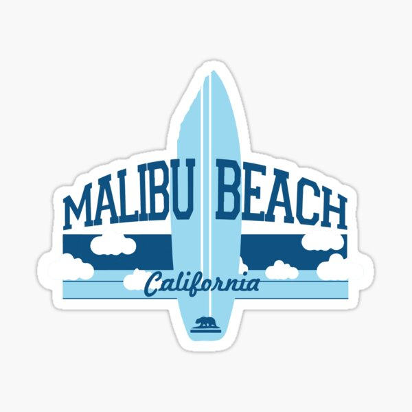 Malibu - California. Sticker