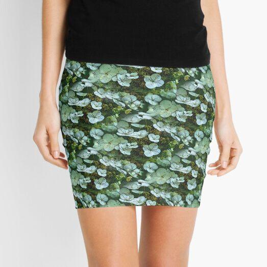 White Lace Hydrangea Flower Art Pattern Mini Skirt