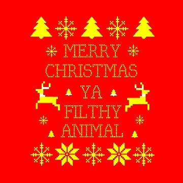 Merry Christmas Ya Filthy Animal by Ringskulls