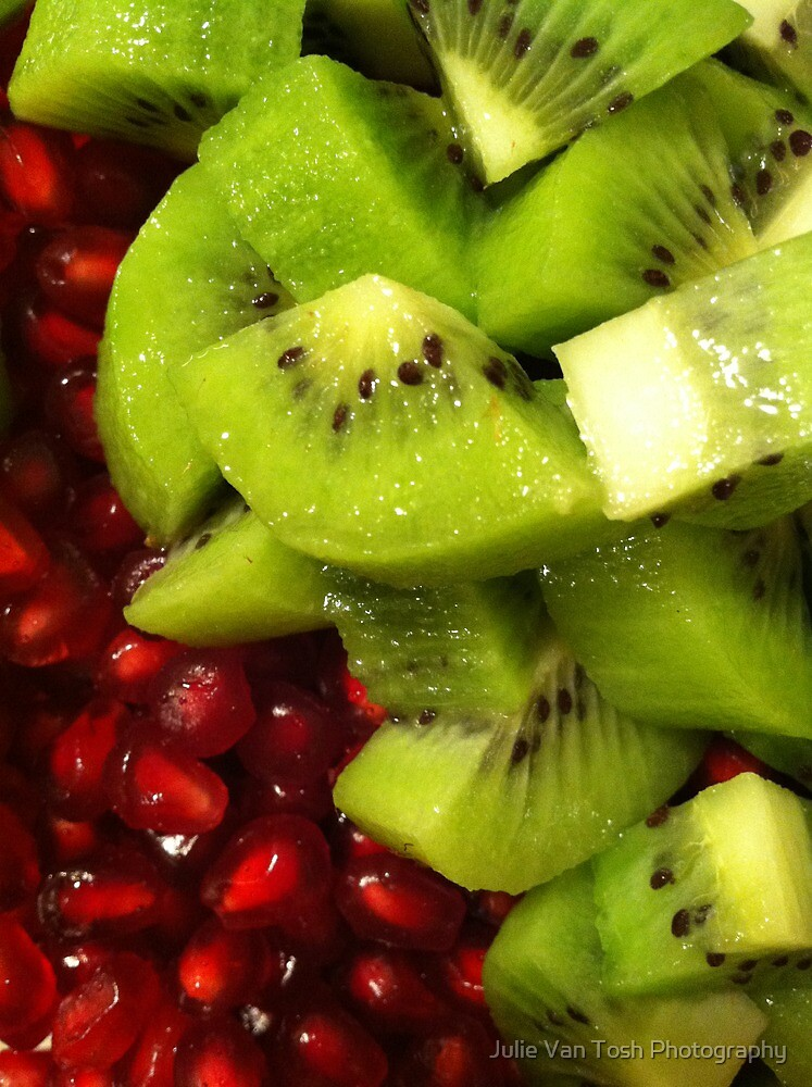 Kiwi & Pomegranate salad by Julie Van Tosh Photography