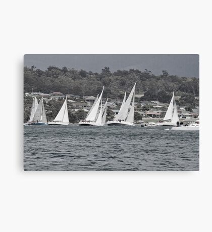 Yachts on a Lean Canvas Print