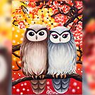 Cute Owls: iPad 2/ iPad (Retina Display) case by Emi Nakamura