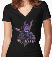 Dragoon - JUMP! Women's Fitted V-Neck T-Shirt