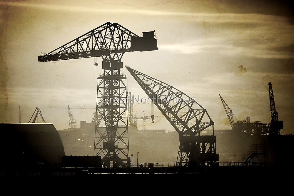 Cranes On the Tyne by Great North Views