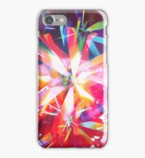 Psychedelic colorful Daimond rays  iPhone Case/Skin