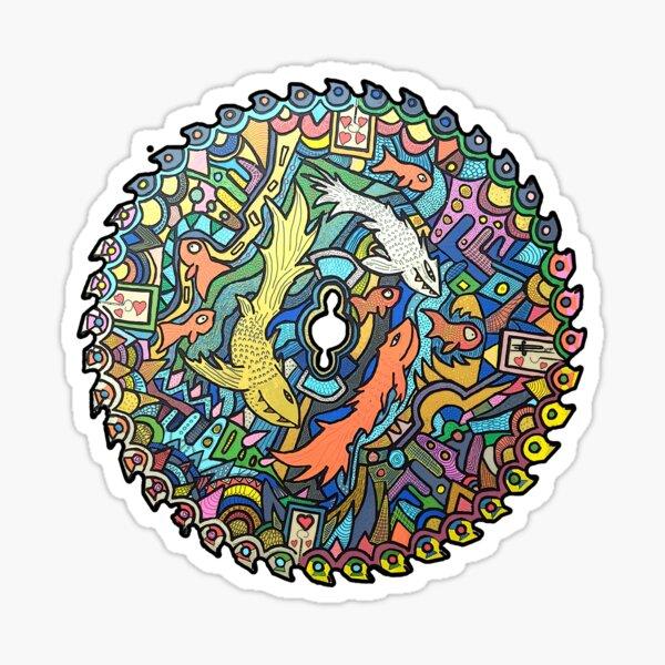 Fish Sawblade Mandala Sticker