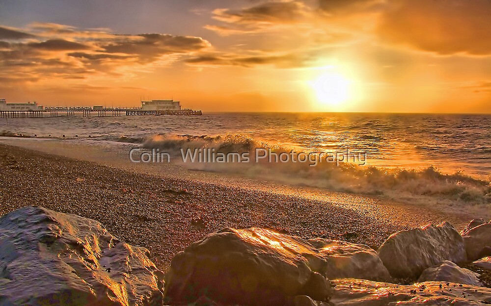 Worthing Beach Sunrise 3 - Boxing Day 2012 - HDR  by Colin  Williams Photography