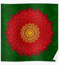 okshirahm rose mandala Poster