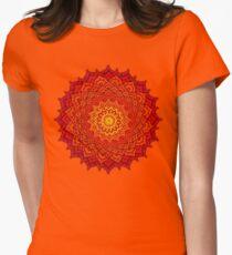 okshirahm rose mandala Womens Fitted T-Shirt