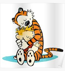 Calvin and hobbes i love forever Poster