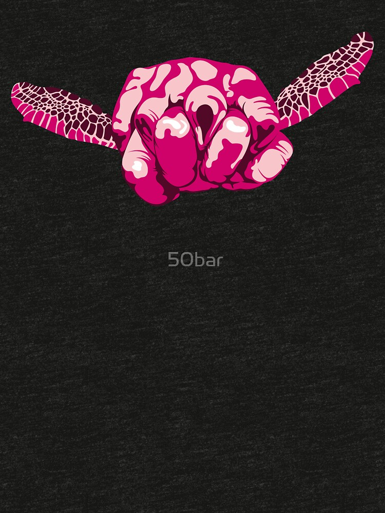 Turtle Hand Signal - Pink by 50bar