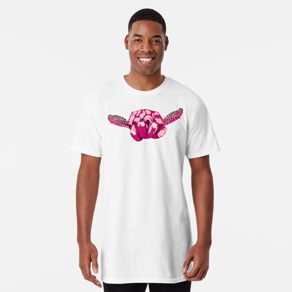 Turtle Hand Signal - Pink Long T-Shirt