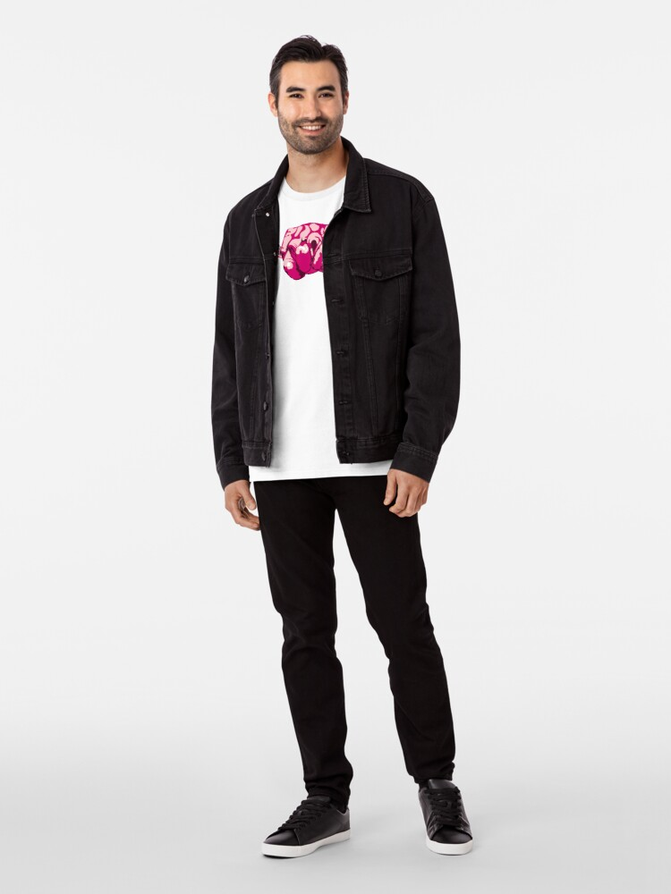 Alternate view of Turtle Hand Signal - Pink Premium T-Shirt