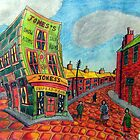 373 - JONES'S SHOP, RHOSLLANERCHRUGOG - DAVE EDWARDS - COLOURED PENCILS - 2012 by BLYTHART