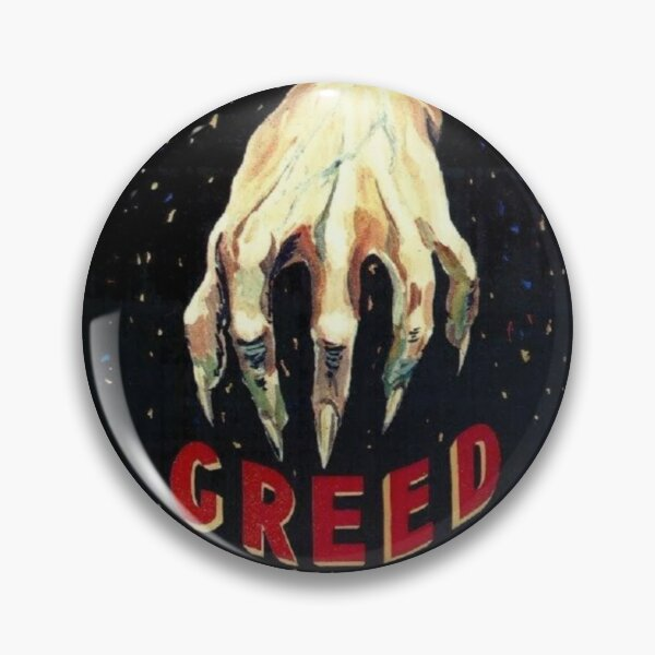 GREED 1924 MOVIE POSTER Pin