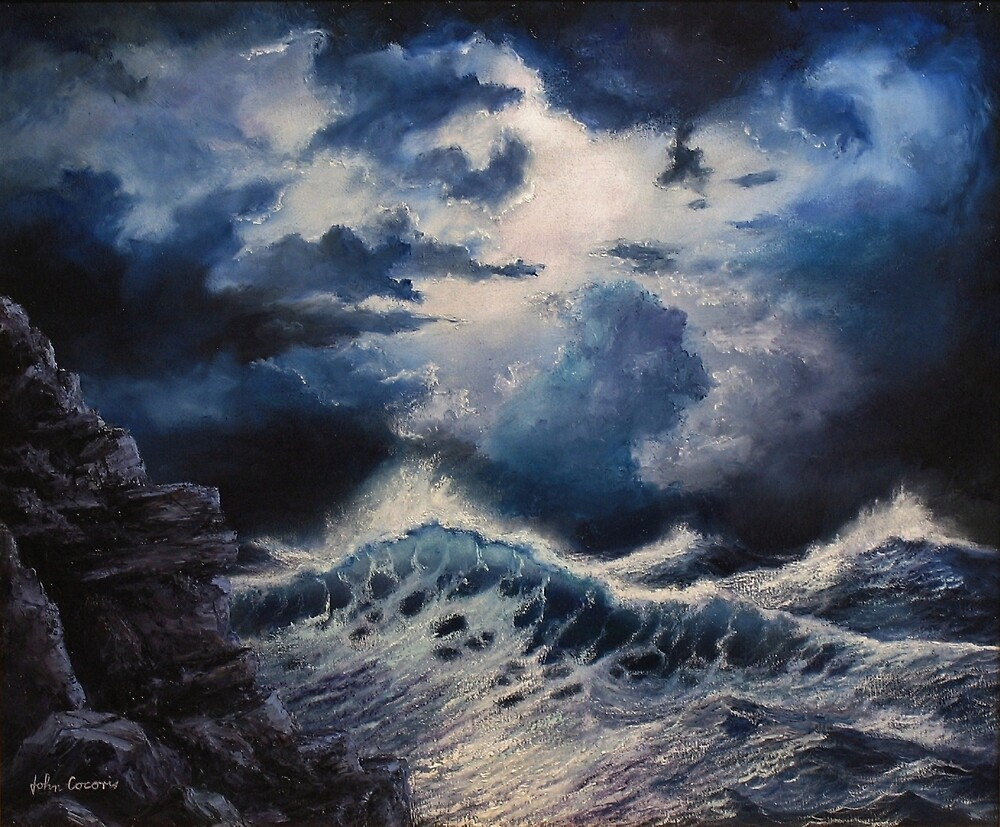 Sea Storm by John Cocoris