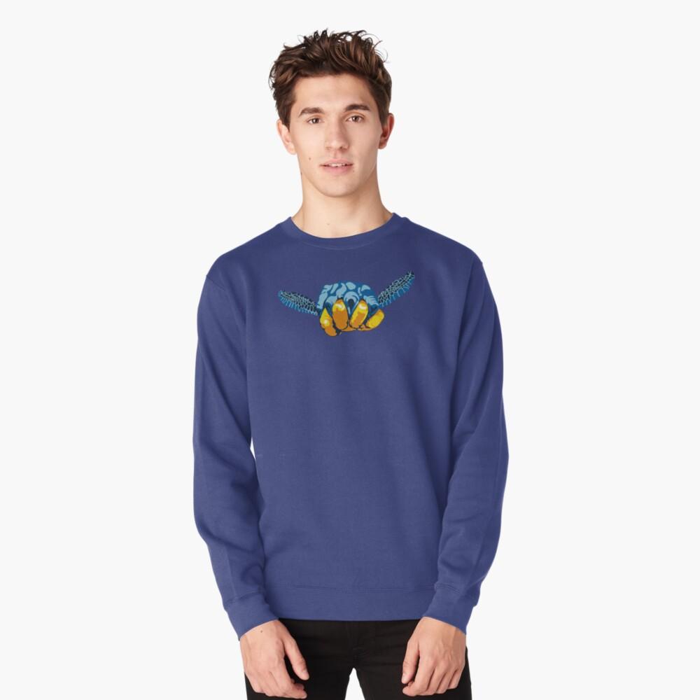 Turtle Hand Signal Pullover Sweatshirt