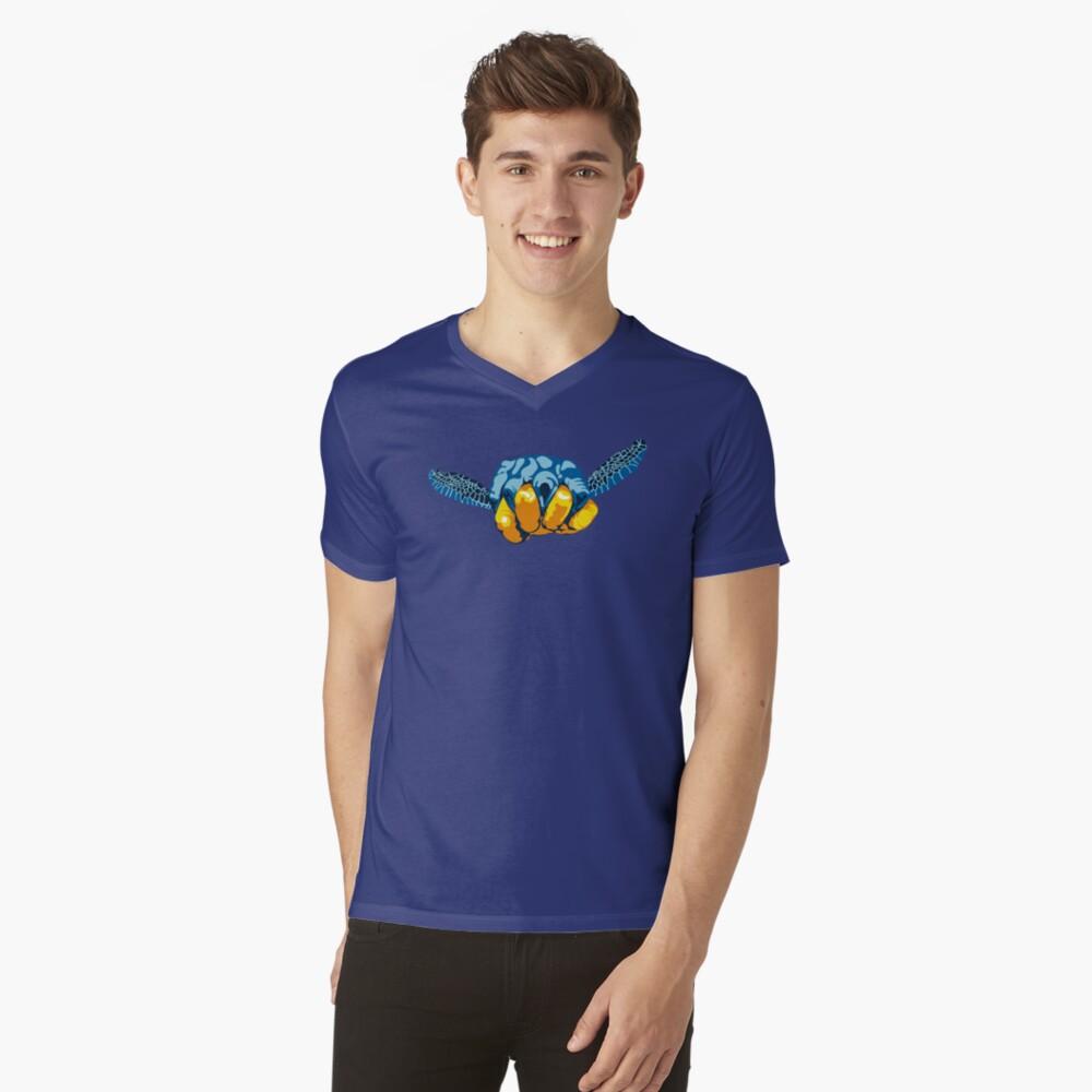 Turtle Hand Signal V-Neck T-Shirt