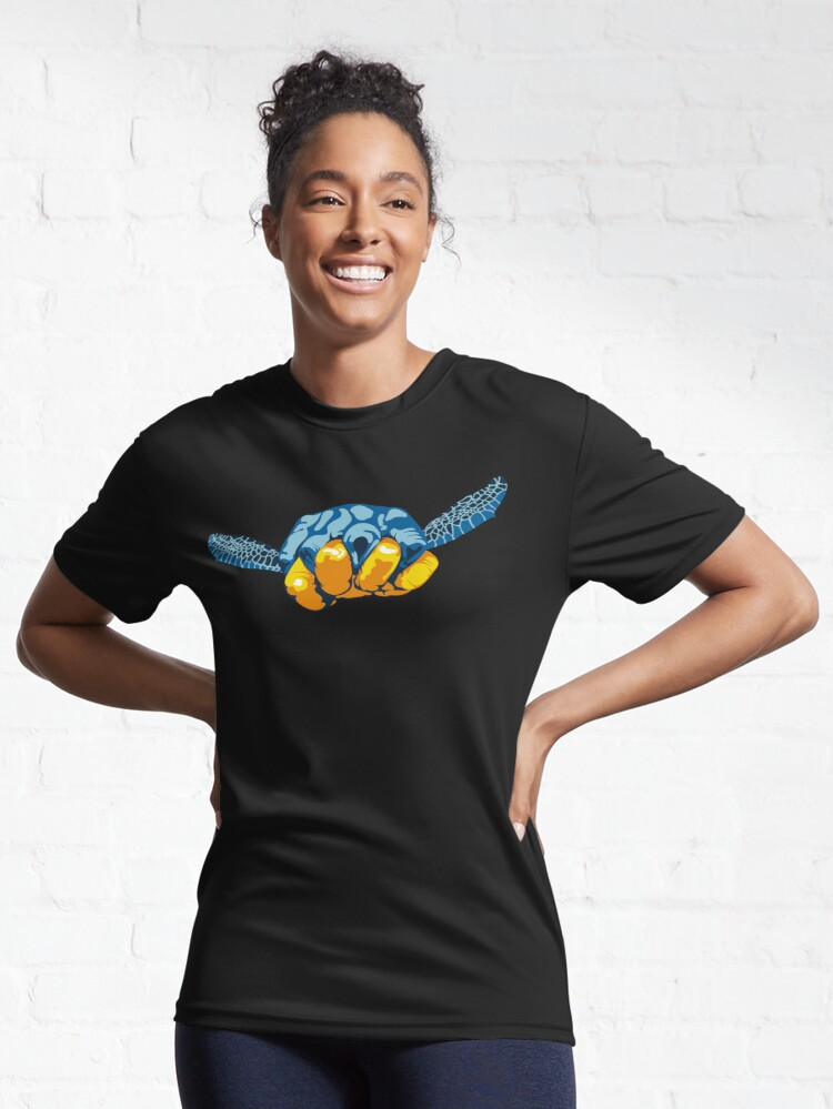 Alternate view of Turtle Hand Signal Active T-Shirt